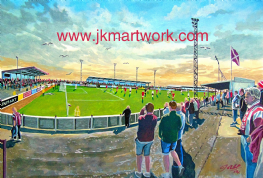 gayfield  park  on matchday print